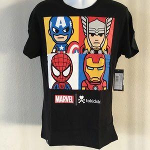 100% NWT Comic Con 2016 Marvel Tshirt by Tokidoki